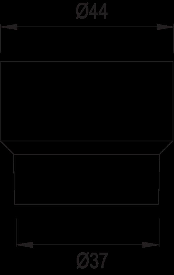 Áramláscsökkentő műszaki rajz