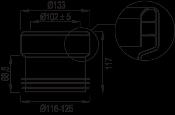 Csatlakozó 4 W _műszaki rajz