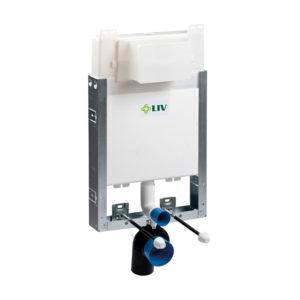 LIV-MOUNT beépített elem 9052 öblítőtartállyal, függesztett WC kagylóhoz