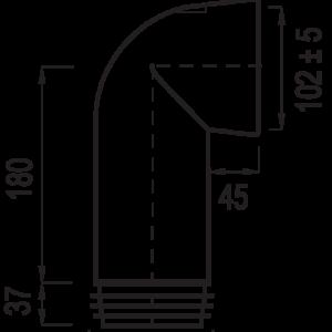 WC öblítő cső 303C