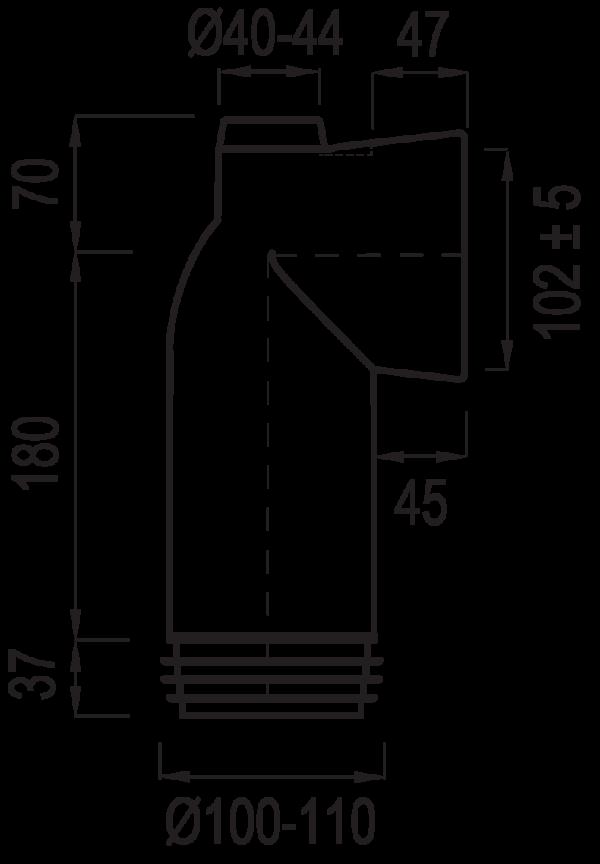 WC öblítő cső 303M